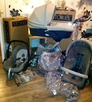 2014 Stokke Xplory V4 baby stroller for sale.