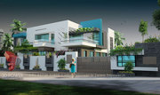 Una 3d Bungalow rendering services102#